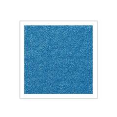 Festive Blue Glitter Texture Satin Bandana Scarf by yoursparklingshop