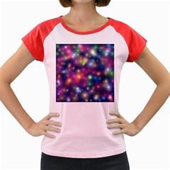 Starlight Shiny Glitter Stars Women s Cap Sleeve T Shirt by yoursparklingshop