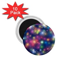 Starlight Shiny Glitter Stars 1 75  Magnets (10 Pack)  by yoursparklingshop