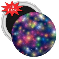 Starlight Shiny Glitter Stars 3  Magnets (10 Pack)  by yoursparklingshop