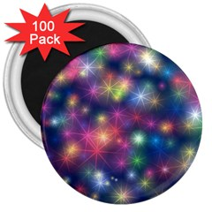 Starlight Shiny Glitter Stars 3  Magnets (100 Pack) by yoursparklingshop