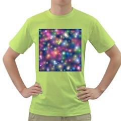 Starlight Shiny Glitter Stars Green T Shirt by yoursparklingshop