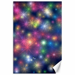 Starlight Shiny Glitter Stars Canvas 24  X 36  by yoursparklingshop