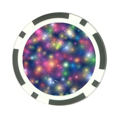 Starlight Shiny Glitter Stars Poker Chip Card Guards by yoursparklingshop