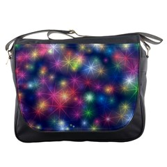 Starlight Shiny Glitter Stars Messenger Bags by yoursparklingshop