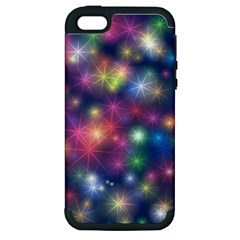 Starlight Shiny Glitter Stars Apple Iphone 5 Hardshell Case (pc+silicone) by yoursparklingshop