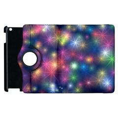 Starlight Shiny Glitter Stars Apple Ipad 2 Flip 360 Case by yoursparklingshop