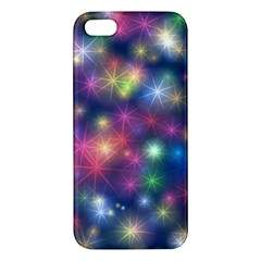 Starlight Shiny Glitter Stars Apple Iphone 5 Premium Hardshell Case by yoursparklingshop