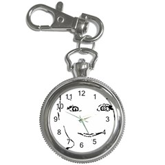 Portrait Black And White Girl Key Chain Watches by yoursparklingshop