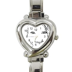 Portrait Black And White Girl Heart Italian Charm Watch by yoursparklingshop