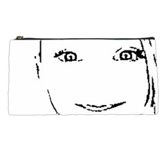 Portrait Black And White Girl Pencil Cases by yoursparklingshop