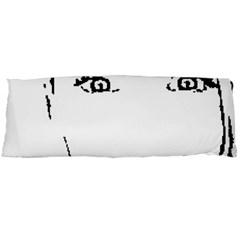 Portrait Black And White Girl Body Pillow Case (dakimakura) by yoursparklingshop
