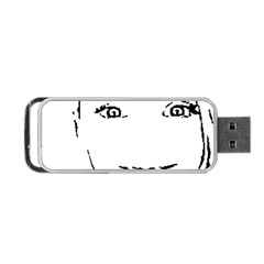 Portrait Black And White Girl Portable Usb Flash (two Sides) by yoursparklingshop