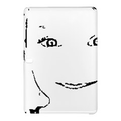 Portrait Black And White Girl Samsung Galaxy Tab Pro 10.1 Hardshell Case by yoursparklingshop