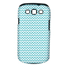 Blue White Chevron Samsung Galaxy S Iii Classic Hardshell Case (pc+silicone) by yoursparklingshop