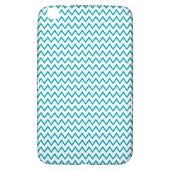 Blue White Chevron Samsung Galaxy Tab 3 (8 ) T3100 Hardshell Case  by yoursparklingshop