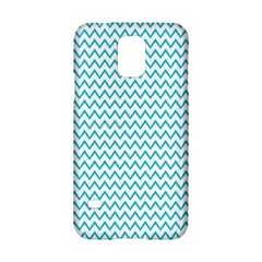 Blue White Chevron Samsung Galaxy S5 Hardshell Case  by yoursparklingshop