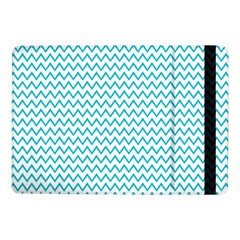 Blue White Chevron Samsung Galaxy Tab Pro 10 1  Flip Case by yoursparklingshop