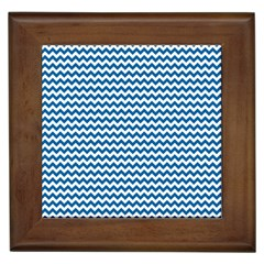 Dark Blue White Chevron  Framed Tiles by yoursparklingshop