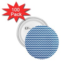 Dark Blue White Chevron  1 75  Buttons (100 Pack)  by yoursparklingshop