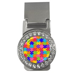 Funny Colorful Puzzle Pieces Money Clips (CZ)  by yoursparklingshop