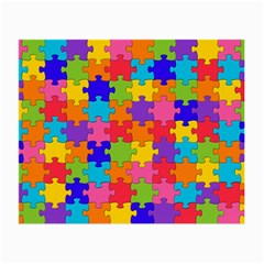 Funny Colorful Puzzle Pieces Small Glasses Cloth by yoursparklingshop