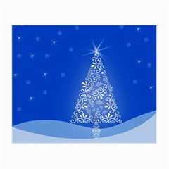 Blue White Christmas Tree Small Glasses Cloth by yoursparklingshop