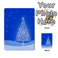 Blue White Christmas Tree Multi Purpose Cards (rectangle)  by yoursparklingshop