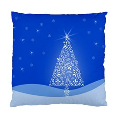 Blue White Christmas Tree Standard Cushion Case (one Side) by yoursparklingshop