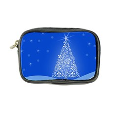 Blue White Christmas Tree Coin Purse by yoursparklingshop