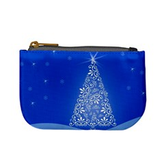Blue White Christmas Tree Mini Coin Purses by yoursparklingshop