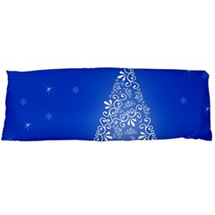 Blue White Christmas Tree Body Pillow Case (dakimakura) by yoursparklingshop