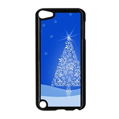 Blue White Christmas Tree Apple Ipod Touch 5 Case (black) by yoursparklingshop