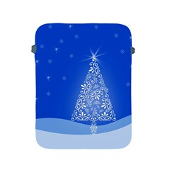 Blue White Christmas Tree Apple Ipad 2/3/4 Protective Soft Cases by yoursparklingshop