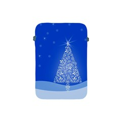 Blue White Christmas Tree Apple Ipad Mini Protective Soft Cases by yoursparklingshop
