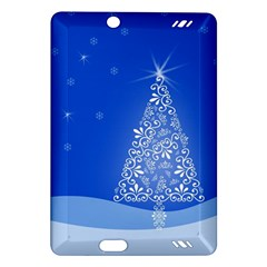 Blue White Christmas Tree Amazon Kindle Fire Hd (2013) Hardshell Case by yoursparklingshop