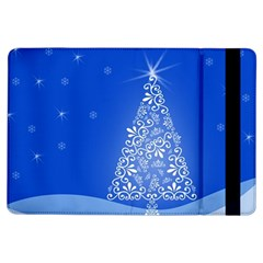 Blue White Christmas Tree Ipad Air Flip by yoursparklingshop