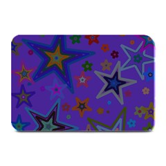 Purple Christmas Party Stars Plate Mats by yoursparklingshop