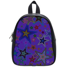 Purple Christmas Party Stars School Bags (small)  by yoursparklingshop
