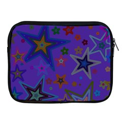 Purple Christmas Party Stars Apple Ipad 2/3/4 Zipper Cases by yoursparklingshop