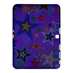 Purple Christmas Party Stars Samsung Galaxy Tab 4 (10 1 ) Hardshell Case  by yoursparklingshop