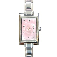 Pink White Love Rose Rectangle Italian Charm Watch by yoursparklingshop