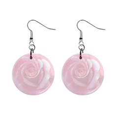 Pink White Love Rose Mini Button Earrings by yoursparklingshop