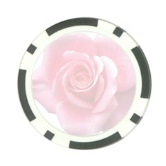 Pink White Love Rose Poker Chip Card Guards by yoursparklingshop