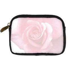 Pink White Love Rose Digital Camera Cases by yoursparklingshop