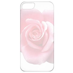 Pink White Love Rose Apple Iphone 5 Classic Hardshell Case by yoursparklingshop