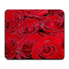 Red Love Roses Large Mousepads by yoursparklingshop