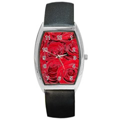 Red Love Roses Barrel Style Metal Watch by yoursparklingshop