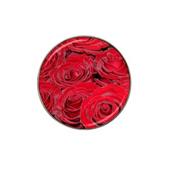 Red Love Roses Hat Clip Ball Marker by yoursparklingshop