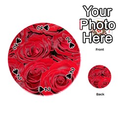 Red Love Roses Playing Cards 54 (round)  by yoursparklingshop